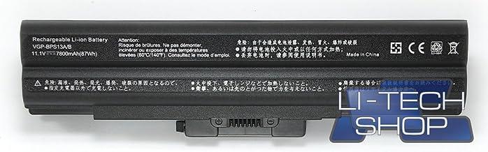 LI-TECH Batería Compatible 9 Celdas 7800 mAh Negro para Sony VAIO VGN-FW11E Nuevo Notebook