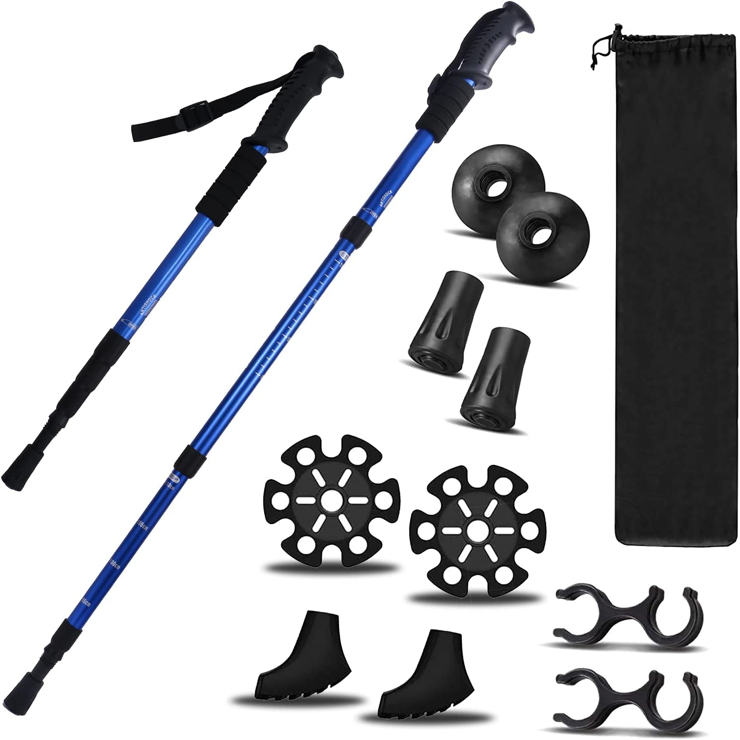 2 Pieces Hiking Sticks Trekking Ranking TOP16 Wal for Accessories ...