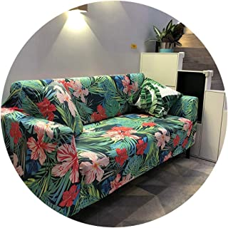 ZFADDS New Plant Print Sofa Cover Night Forest Couch Cover Tight Wrap Slip-Resistant Couch Cover L Shape Armchair,1,3-Seat 190-230Cm