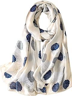 YMXHHB Silk Scarf 100% Mulberry Silk Fashion Scarves Long Lightweight Shawl Wrap