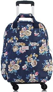 "Women's Wheeled Hand Luggage Holdall Trolley Handbag 20"" (Color : E, Size : L36×W20×H50cm)"