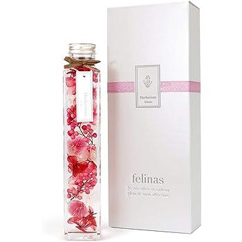 [ フェリナス ] ハーバリウム ピンク フラワー ギフト 誕生日 結婚 贈り物 お礼 お祝い 返し お花 プレゼント 女性 オシャレ プリザーブドフラワー kaku-pink