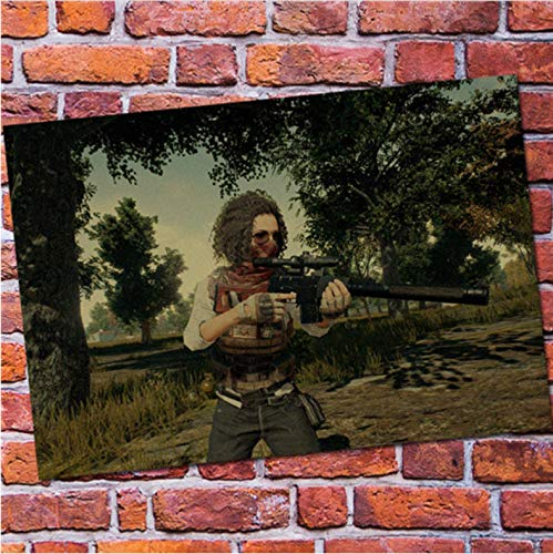 mohanshop Fps Game Playerunknown'S Battlegrounds Poster Pubg Winner Winner Chicken Dinner Canvas Game Poster Drawing Core A232 (40X60Cm) Sin Marco
