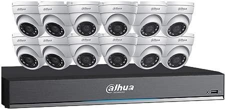 Dahua HDCVI Kit: 16-Ch, 4K Penta-Brid DVR + 12 x 5MP Security Camera, White (C7165E124)