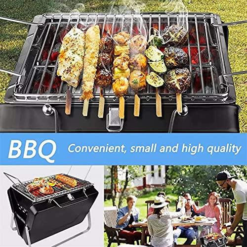 61xlcHYLW+S. SL500  - LOVEHOUGE Grill Holzkohle Edelstahl Outdoor Camping Gartengrill, Klappbares Tragbares Grillzubehör, Geeignet Für 2 Bis 5 Personen