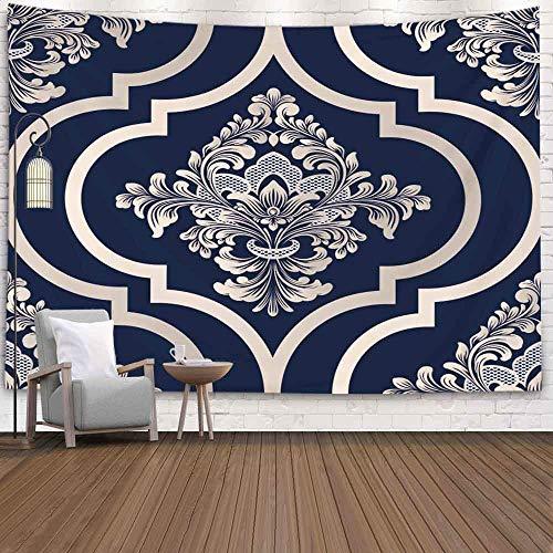 BFNBRLOR - Arazzo da parete, 200 x 150 cm, motivo damascato classico, stile antico, stile reale, vittoriano, per dormitorio e casa