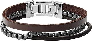 Fossil Men's Gunmetal Bracelet, JF03319998
