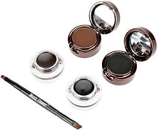 Anself Set de Maquillaje 4 en 1, Crema para Cejas y Eyeliner