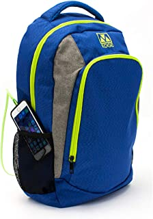 M-Edge Relay - Mochila con powerbank 6000 mAh, Color Azul y Lima
