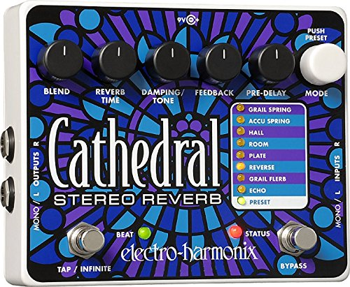 Electro Harmonix Cathedral Pedal for Electric Guitar Silver
