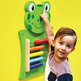 Learning Advantage Frog Activity Wall Panel - Toddler Activity Center - Wall-Mounted Toy for Kids Aged 18M+ - Decor for Bedrooms and Play Areas