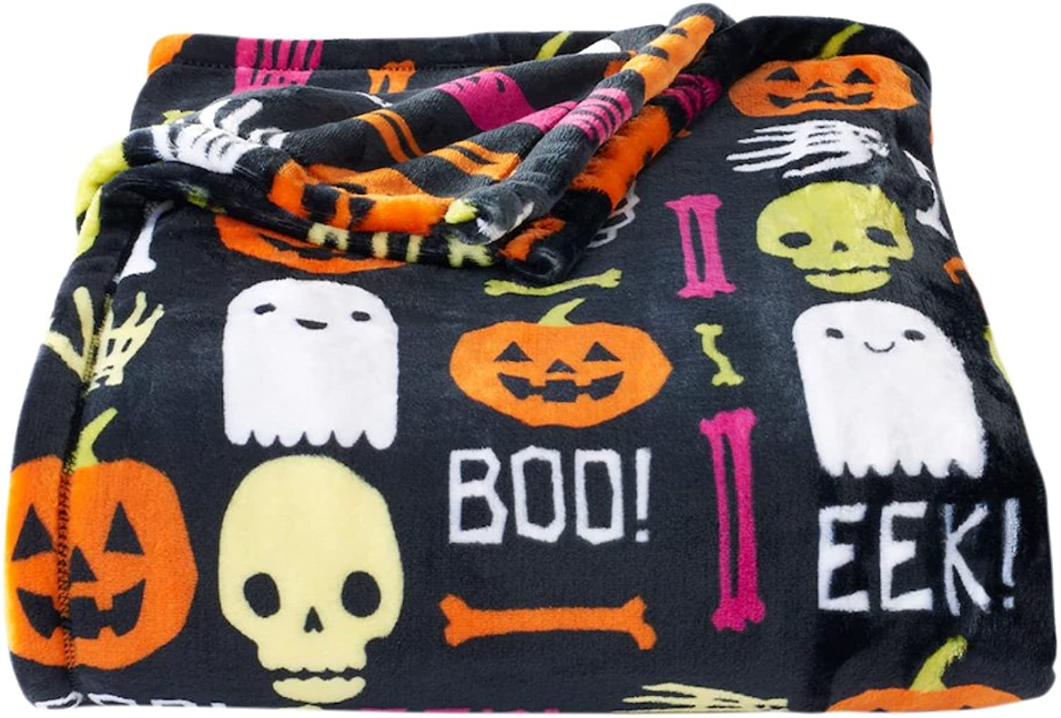 Oversized Throw Blanket Super Soft and Cozy Plush 60 x 72 (Halloween)