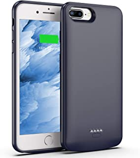 Swaller Battery Case for iPhone 8 Plus/7 Plus, 5500mAh Slim Portable Charger Case Extend 150% Battery Life, Protective Backup Charging Case Compatible with iPhone 8 Plus/7 Plus (Gray)