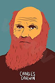 VVWV Charles Darwin Science Portrait Wall Art Poster 300 GSM Office Bedroom Poster Stylish Big Size Boys Home Decoration P...