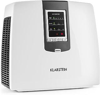 Klarstein Klarstein Tramontana - Luftreiniger, Lufterfrischer, Inonisator, HEPA-Filter, Aktivkohlefilter, Photokatalysator, UV-Sterilisation, bis zu 25 m², 40 db, Timer, für Allergiker, weiß