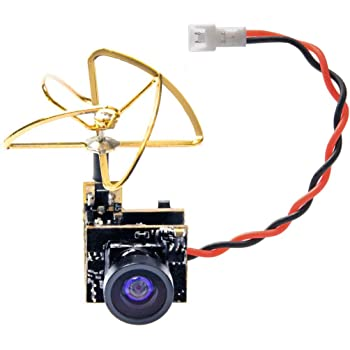 BETAFPV Z02 AIO Camera 5.8GHz M01 VTX 25mW Transmitter 600TVL NTSC//PAL with 25 and 35 Degree Camera Mount OSD SmartAudio for Tiny Whoop Drone Like Beta65S Whoop Pin-Connected Version