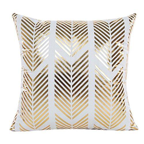 Vovotrade Housse d'oreiller d'impression en Papier Doré Sofa Waist Throw Cushion Cover Home Salon Decor (B)