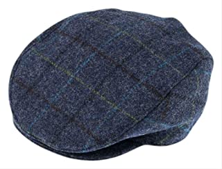 Dents Men's Flat Cap - Abraham Moon Yorkshire Tweed - with Quilted Satin Lining