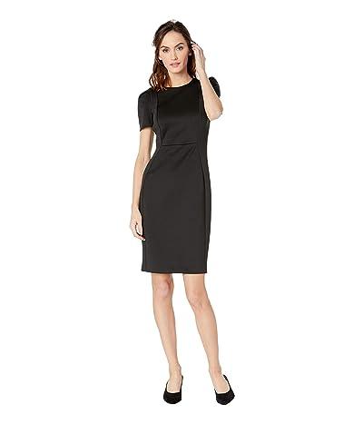 Calvin Klein Short Sleeve Sheath Dress CD8M19JL (Black) Women