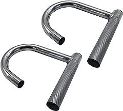 Sveltus 2 x handgreep voor elastieken, uniseks, volwassenen, zilver (staal), eenheidsmaat