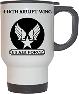 446th Airlift Wing - US Air Force White Stainless Steel Mug, 1026