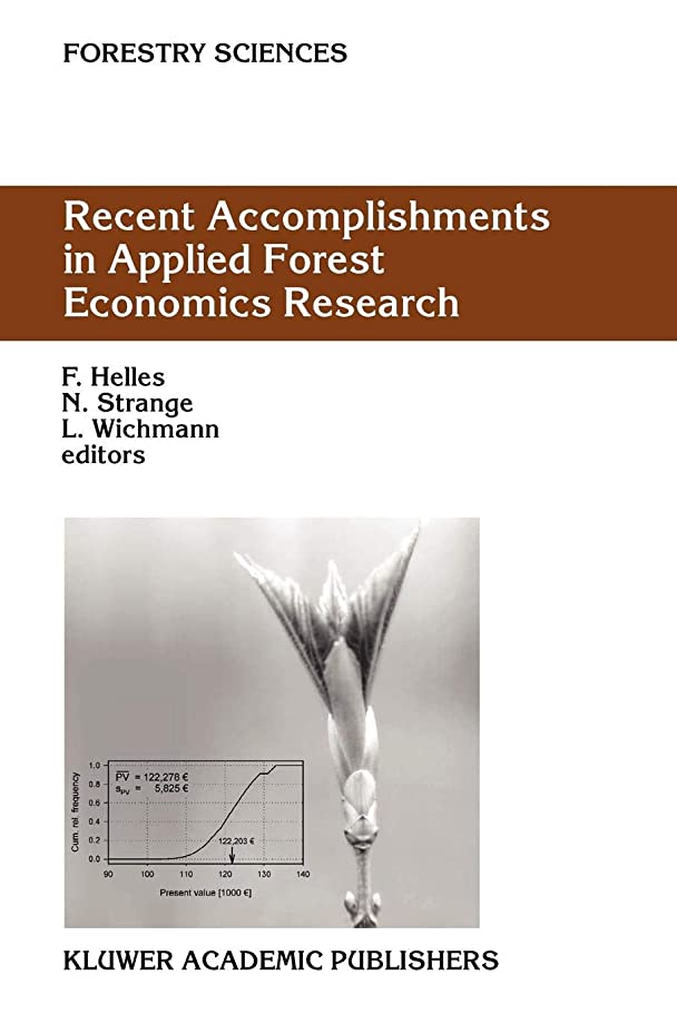酔ったパッケージ顕現Recent Accomplishments in Applied Forest Economics Research (Forestry Sciences)