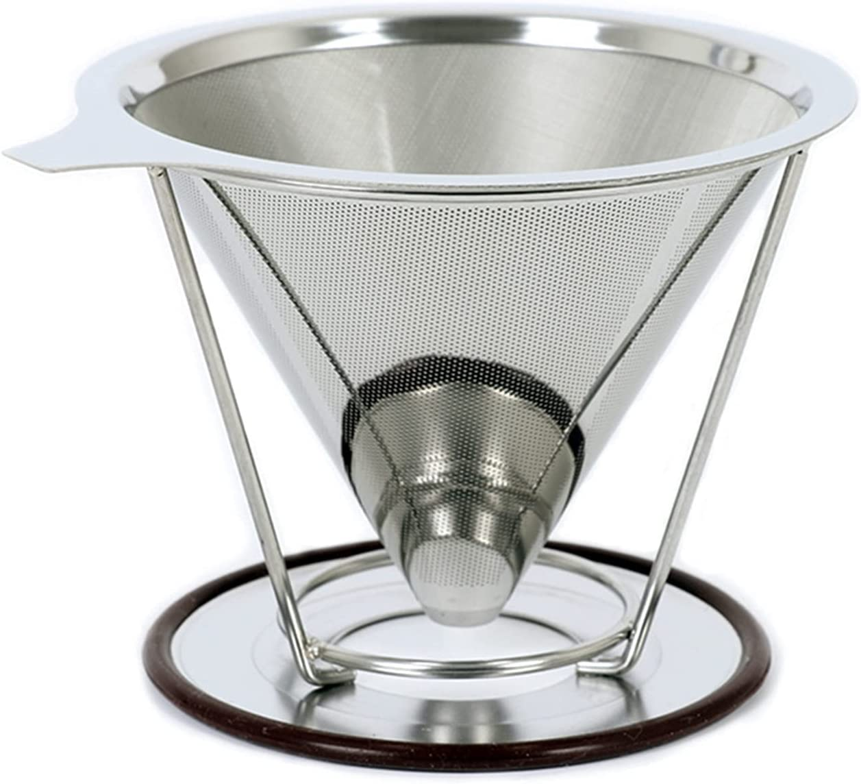 Limited Dedication price SHUANGX Reusable Double-Layer Coffee Filter Hold Stainless Steel