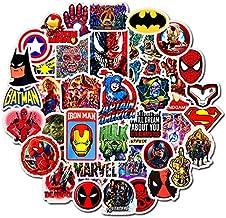 WWJIE Marvel Superhero Sticker Hulk Batman Movie Sticker Set 50 Stickers
