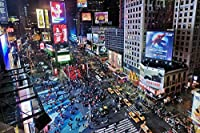 タイムズスクエア、ニューヨーク市 - 世界 - #12599 - キャンバス印刷アートポスター 写真 部屋インテリア絵画 ポスター 50cmx33cm