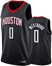 Houston Rockets 0# Westbrook Jerseys Breathable Embroidered Basketball Swingman Jersey AMJUNM Men/'s Women Jersey