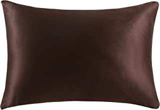 OOSilk 100% Mulberry Silk Pillowcase for Hair King Size 20inx 36in, Chocolate,Gift Wrap,1pc