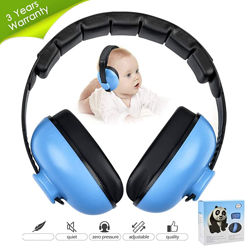 Noise Cancelling Headphones For Kids Babies Ear Protection Earmuffs Noise Reduction For 0 3 Years Babies Toddlers Infant Blue
