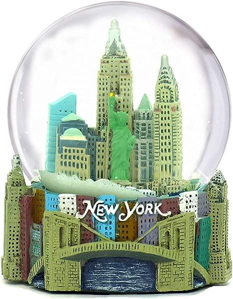 Skyline New York City Snow Globe Souvenir 3 5 Inches Tall 65mm