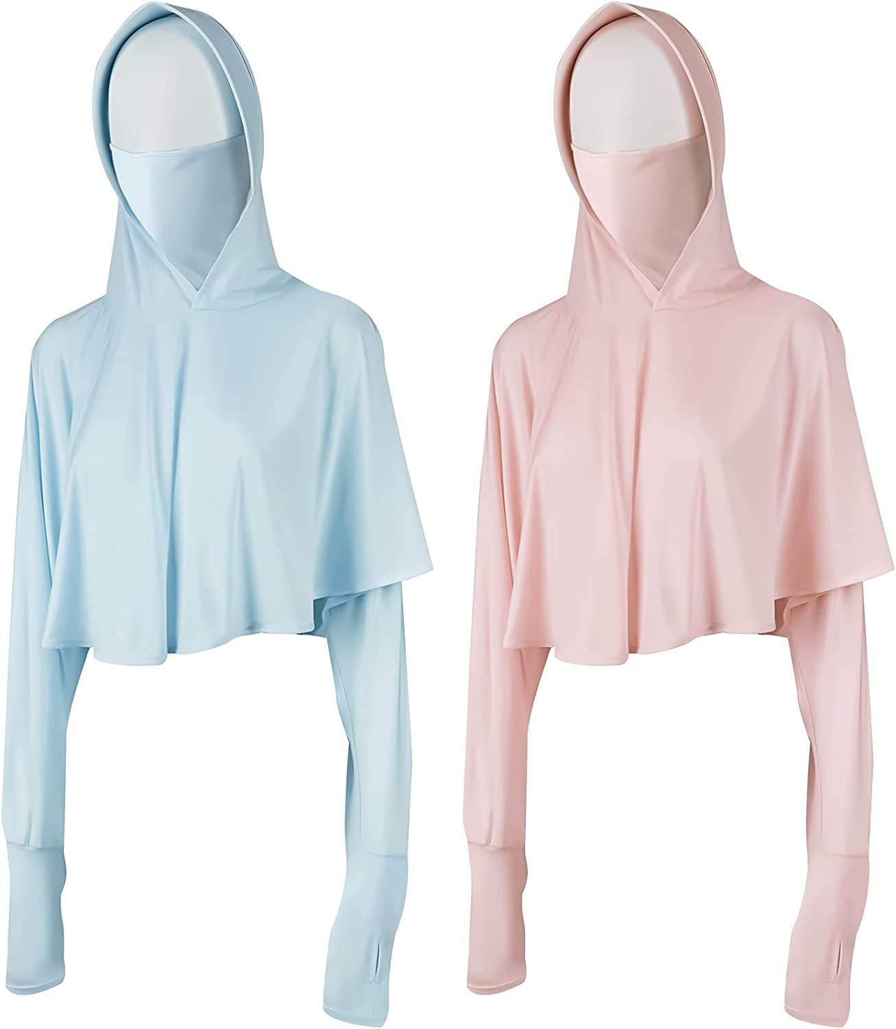 Super popular specialty store Geyoga 2 Pieces Summer Sun Hoodie Houston Mall Protection Hats Sun-P Clothing
