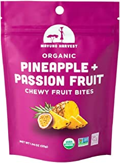 Mavuno Harvest Organic Chewy Fruit Bites, Pineapple Passionfruit, 8 Count