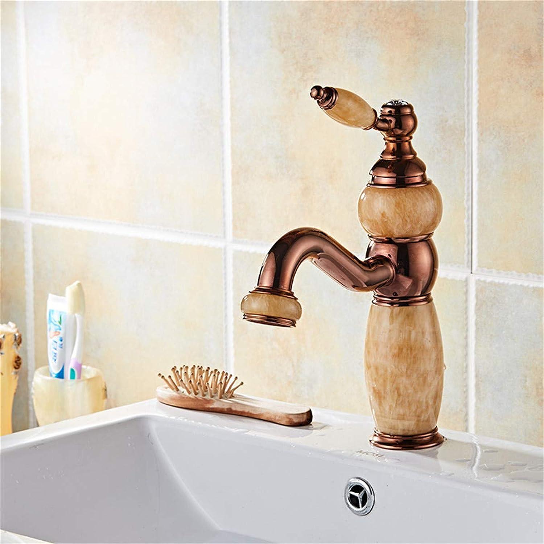 goldYING Tap Faucet??Head-Mounted Wash Basin Faucet European Antique Hotel Basin Faucet Copper Metal Basin Faucet
