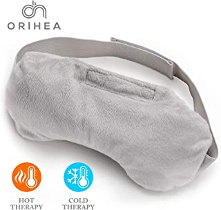 OriHea Lavender Eye Mask for Puffy Eyes and Dry Eyes, Aromatherapy Eye Pillow, Weighted Sleep Eye Mask for Women & Men, Heated Eye Mask for Headache,Therapy Eye Cover for Yoga,Migraine Relief, Sinus