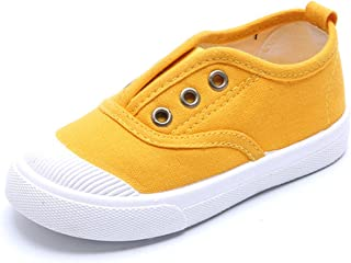 DADAWEN Baby's Boy's Girl's Canvas Light Weight Slip-On Loafer Casual Running Sneakers
