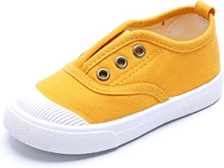 DADAWEN Boy's Girl's Canvas Light Weight Slip-On Sneakers Running Shoe