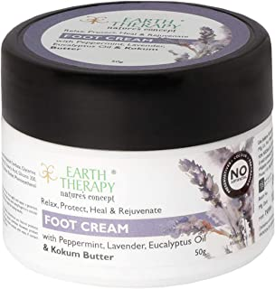 EARTH THERAPY Foot Cream For Cracked Heels, Dry Skin, Feet Repair, Brightening Hydration & ULTRA HEALING For Women & Men,50GM