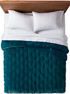 Opalhouse Teal Velvet Tufted Stitch Quilt - Twin/XL Twin