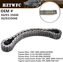 HZTWFC Transfer Case Output Shaft Drive Chain 36293-35040 Compatible for Toyota Hilux Land Cruiser Prado Lexus GX400/460 Fortuner T.U.V