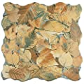 "SomerTile FEM18OTO Autumno Porcelain Floor and Wall Tile, 17.75"" x 17.75"", Brown/Beige/Grey/Green"