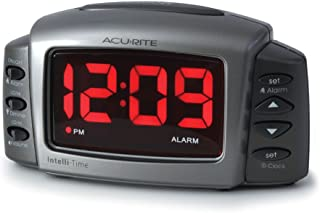 AcuRite 13030 Intelli-Time Alarm Clock with Adjustable Volum