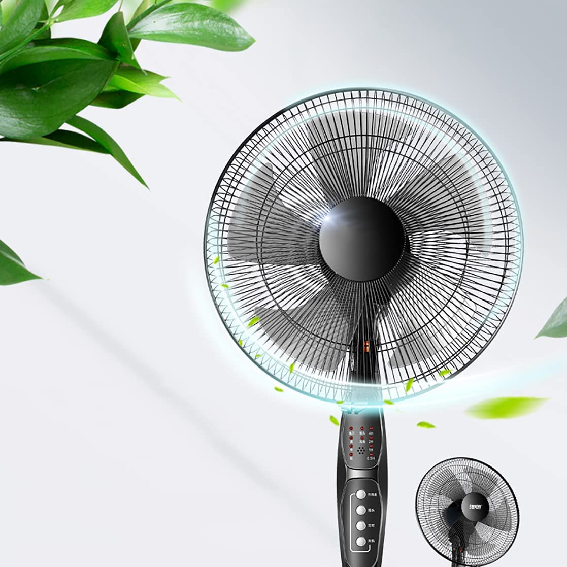 WQF 16Inch Oscillating Fan Manufacturer Import regenerated product 4 with Co Speeds Remote Pedestal