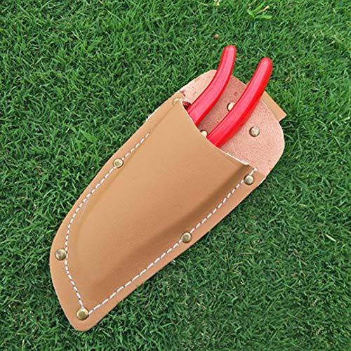 Cubierta de alicates con un botón de bloqueo Mano de obra de costura de precisión duradera para tijeras de podar de jardín Brond Nuevo(brown)
