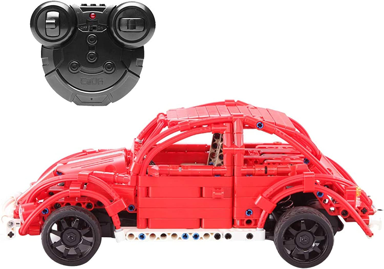 Baoblaze Remote Control Car Toy, 472 PCS Beetle Car Kit with Rechargeable Battery, Construction Building Blocks DIY Vehicle Toy, Kids Educational Toy Gift