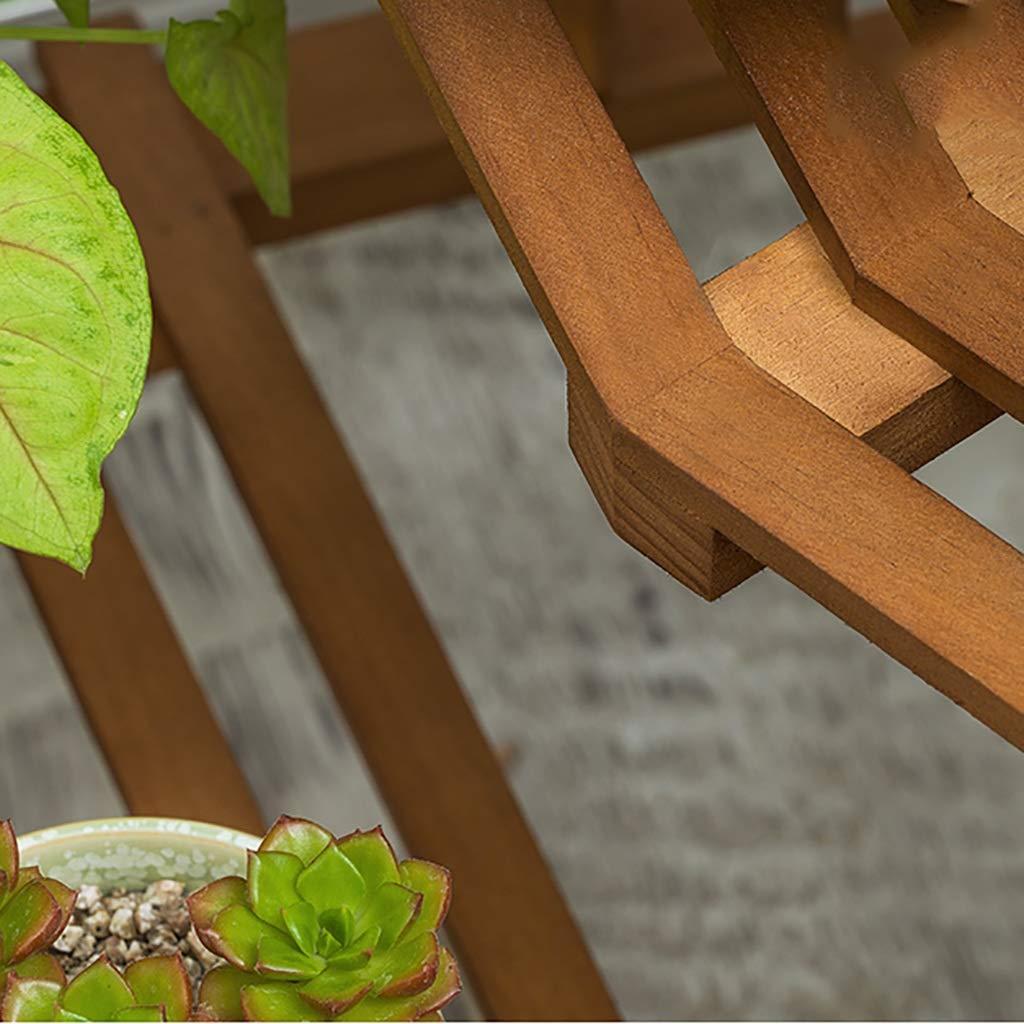 YXWa Puesto de Plantas Jardinera - Escalera de Madera de 3,4 Capas - Madera Clara Puesto de Flores (Tamaño : A): Amazon.es: Hogar