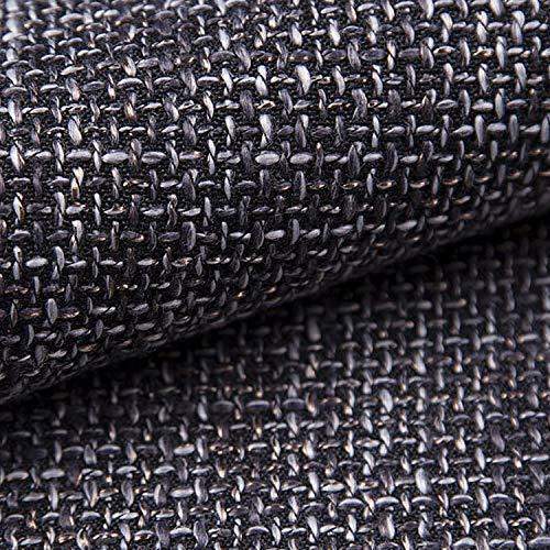 NOVELY® LANZ Premium Möbelstoff | Schwerer Webcharakter | grob gewebter Polsterstoff | Meterware | Struktur-Stoff | 15 Farben (17 Graphit)