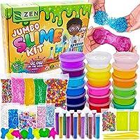 DIY Slime Kit Toy for Kids Girls Boys Ages 5-12, Glow in The Dark Glitter Slime Making Kit - Slime Supplies w/ Foam...